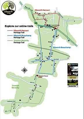 Kibworth Trail Map